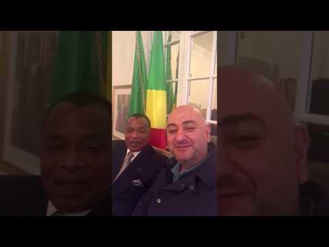 خطاب يرحب بضيفه و صديقه رئيس الكونغو