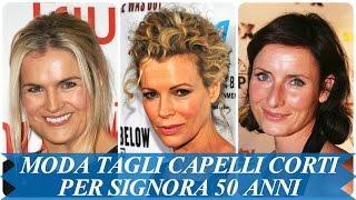 Capelli corti viso tondo 50 anni
