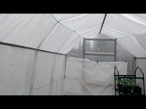 189.  Как спасти растения от жары в теплице