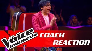 Priceless! Ini Ekspresi Coach Armand Maulana | COACH REACTION | The Voice Indonesia GTV 2018