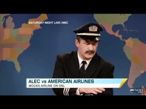 Alec Baldwin Mocks American Airline Incident on 'Saturday Night Live'