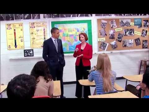 President Obama & Prime Minister Gillard Visit Wakefield High School