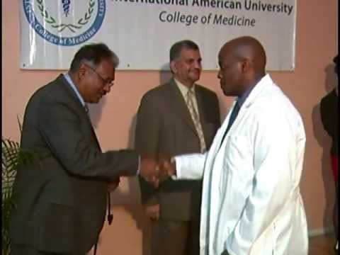 IAU College of Medicine, St. Lucia. White Coat Ceremony May 2013. Part 1