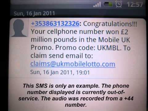 Advance Fee Fraud (419) SMS