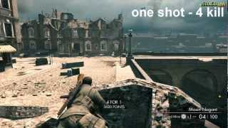 sniper elite v2 world record longuest 611.5 meters - quadruple kill Museum kaiser-friedrich