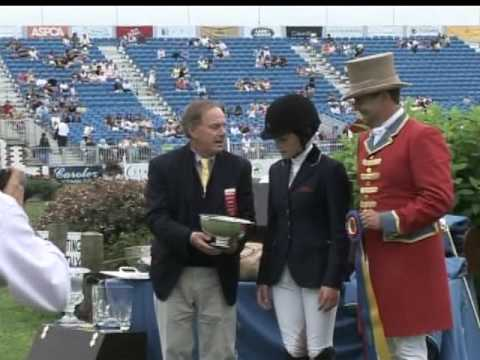 Jessica Springsteen at the Hampton Classic with R. Scot Evans VVH-TV