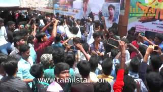 Dhanush Fans Celebrated Maari First Day First Show