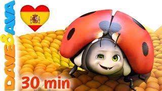 🐞 Cinco Mariquitas | Canciones Infantiles en Español de Dave y Ava 5️⃣