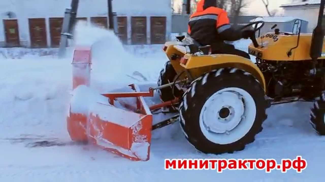 Снегоуборщик для минитрактора своими руками