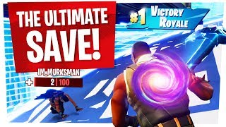 The ULTIMATE SAVE to WIN in Tfue Squad Scrims - Fortnite Battle Royale