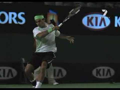 Roger Federer slow motion video Video