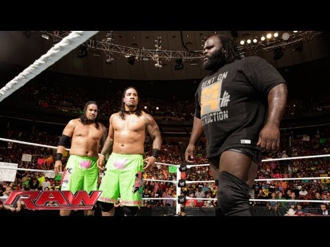 The Usos help Mark Henry fend off The Shield: Raw, July 22, 2013