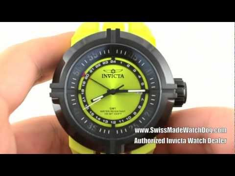 Invicta 10073 Specialty I-Force Contender GMT Lime Green Dial Watch