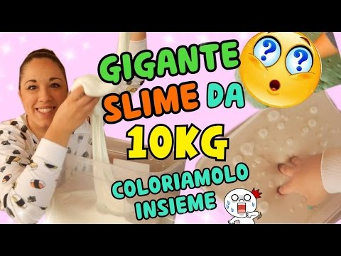 GIGANTE SLIME DA 10KG COLORIAMOLO INSIEME + ASMR SLIME Iolanda Sweets