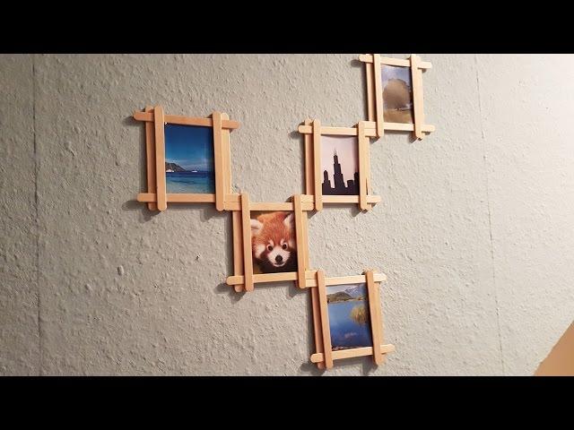 DIY: Popsicle Stick Multi Photo Frame - iwbc.ru