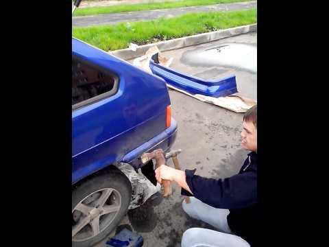 Видео как снять бампер ВАЗ 2114