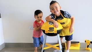 Kids Pretend Play BBQ Fun With My Little Brother Toys Unboxing Ckn