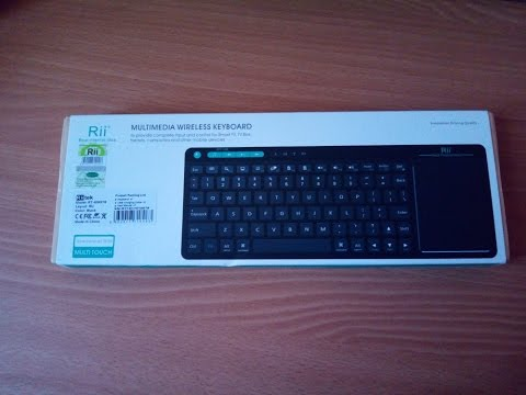 Новая модель мультимедийной клавиатуры Rii K18 - мультитач/слим/встроенная батарея