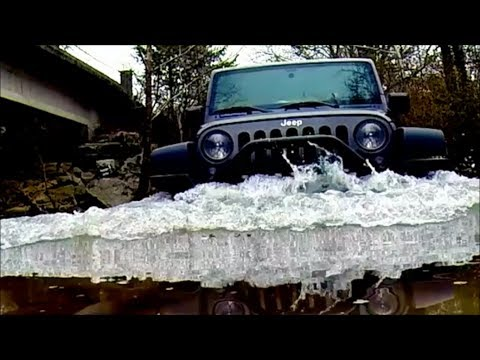 GoPro Studio 2014 Jeep Wrangler Offroad and Creek Rollover.  Submerged GoPro Hero 3+ (plus)