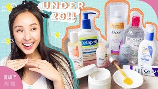 Affordable & Drugstore Skincare Products Under $20 To Add to Your Daily Routine