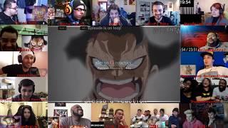 16 Reactors!!!One Piece episode 870  luffy snakeman vs katakuri reaction mashup