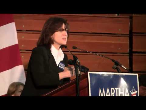 Vicki Kennedy at rally for Martha Coakley