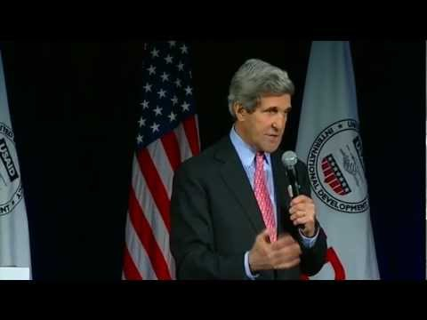 Secretary Kerry Delivers Remarks at USAID