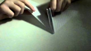 How To Make A  2 Sided Origami Air Plane