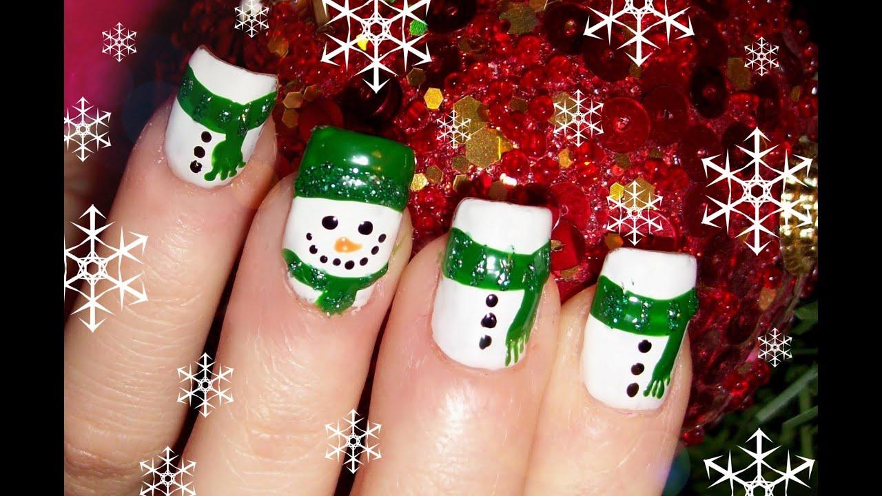 Christmas Nail DesignSnowman