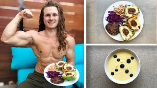 VEGAN FULL DAY OF EATING | HIGH PROTEIN & MUSCLE TIPS