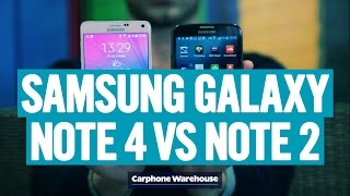 Samsung Galaxy Note 4 vs Samsung Galaxy Note 2 comparison review