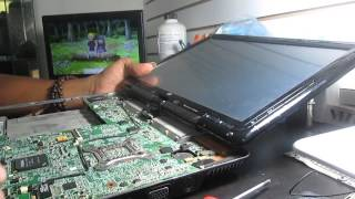 tutorial de reparación reflou de laptop HP PAVILION TX2032LA NOTEBOOK 1/3