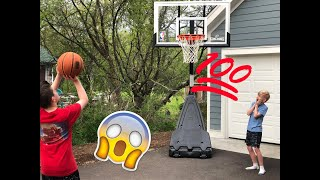 BASKETBALL TRICK-SHOTS!!! (COPPED CALLED)