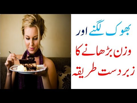 bhok lagna ka tarika | Mota Hone Ke 3 Tarike - How To Gain Weight In Urdu / Hindi - Wazan Badhany Ka