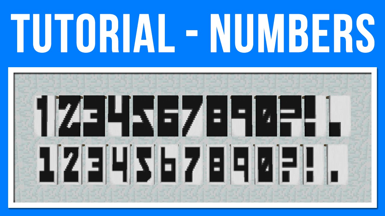 Minecraft 1 8 Banner Art Numbers Amp Basic Punctuation