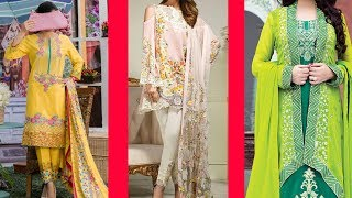 Lawn dress design 2018 || Latest party wear dress design collections