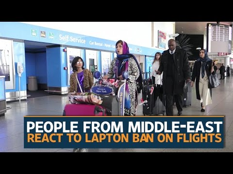 Travellers express concern with laptop ban on flights
