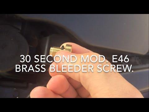 Brass bleeder screw. e46 BMW quick fix
