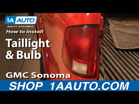 How to Install Replace Taillight and Bulb 94-04 GMC Sonoma S15 1AAuto.com
