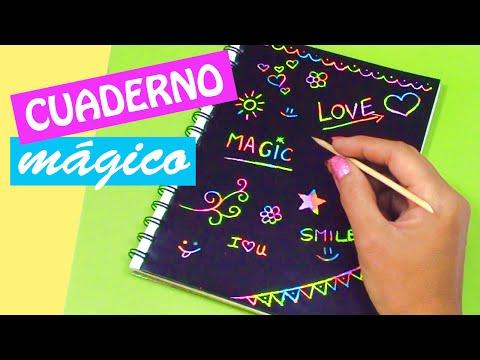 Manualidades: CUADERNO MÁGICO! DIY regreso a clases - Innova Manualidades
