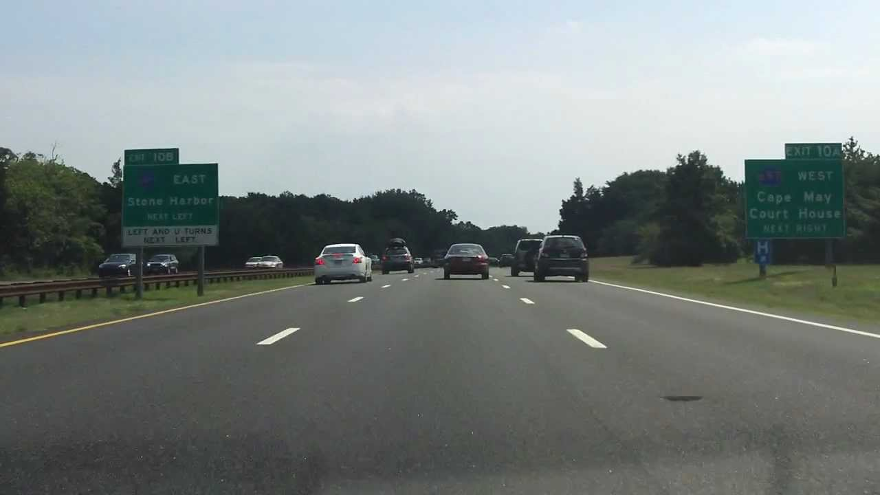 Garden State Parkway Exits 17 To 10 Southbound Youtube