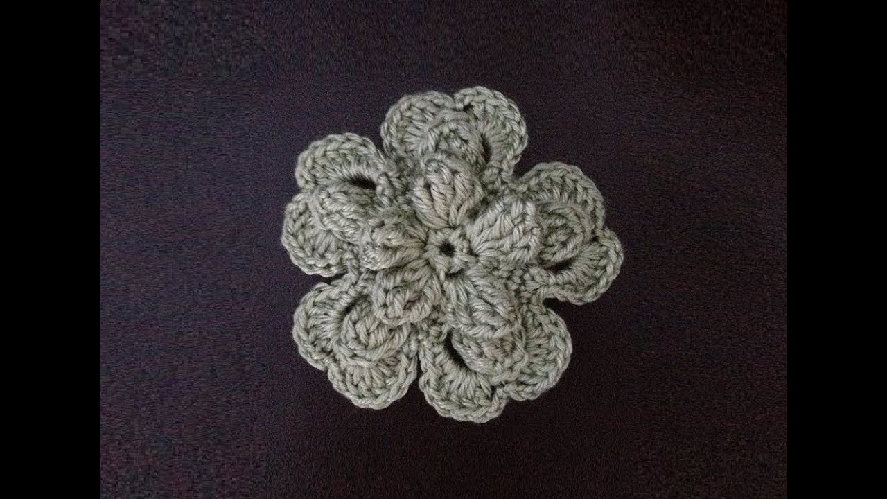How to Crochet a Flower Pattern #17 by ThePatterfamily ...