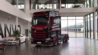 2017 - Scania S730 V8 6X2 (Race Edition) Black-Red Next Generation Sound