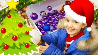 FUNNY Christmas Tree Ornaments / CHRISTMAS SONG for kids