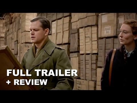 The Monuments Men Official Trailer 2 + Trailer Review : HD PLUS