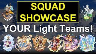 Dragalia Lost - Squad Showcase #2 - Your LIGHT Teams