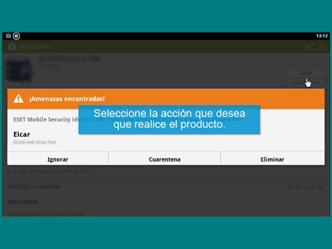 Detección de amenazas en ESET Mobile Security para Android