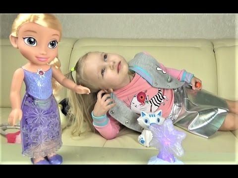 Эльза ПОЕТ ПЕСНИ и светится!!! ХОЛОДНОЕ СЕРДЦЕ Северное сияние Интерактивная кукла для девочек