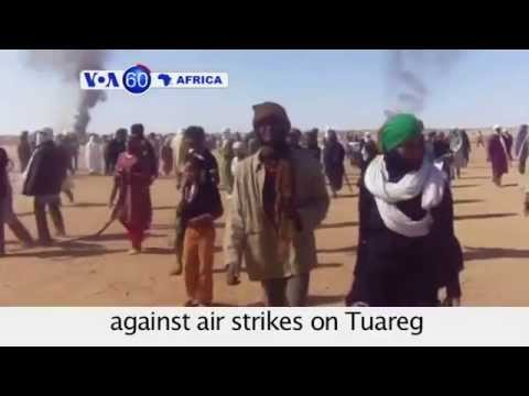 Hundreds in Mali protest against air strikes on Tuareg rebels by U.N. peacekeepers- VOA60 Africa