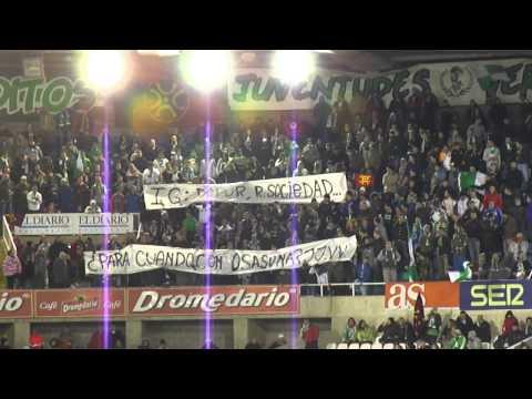 Racing de Santander - Real Sociedad Mensaje de la Gradona de los Malditos en HD 18/12/2011